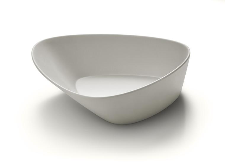 Large Triangle Light Grey Melamine Bowl (Set of 3 pcs.)