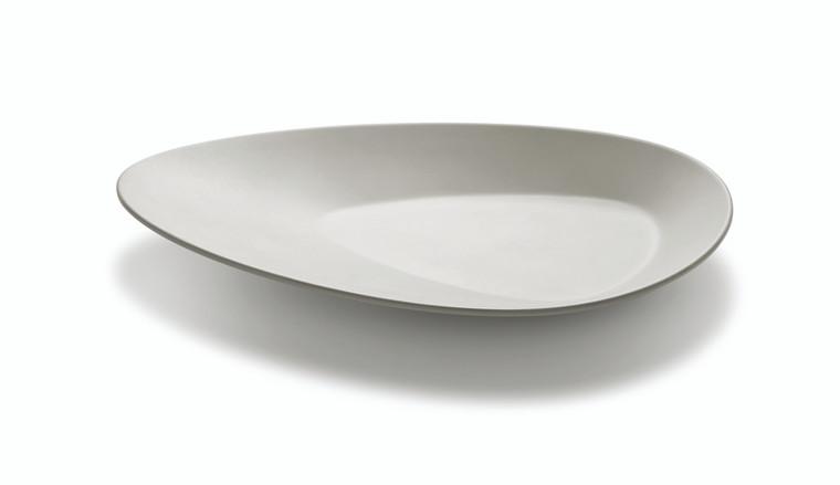 Large Triangle Light Grey Melamine Platter (Set of 3 pcs.)