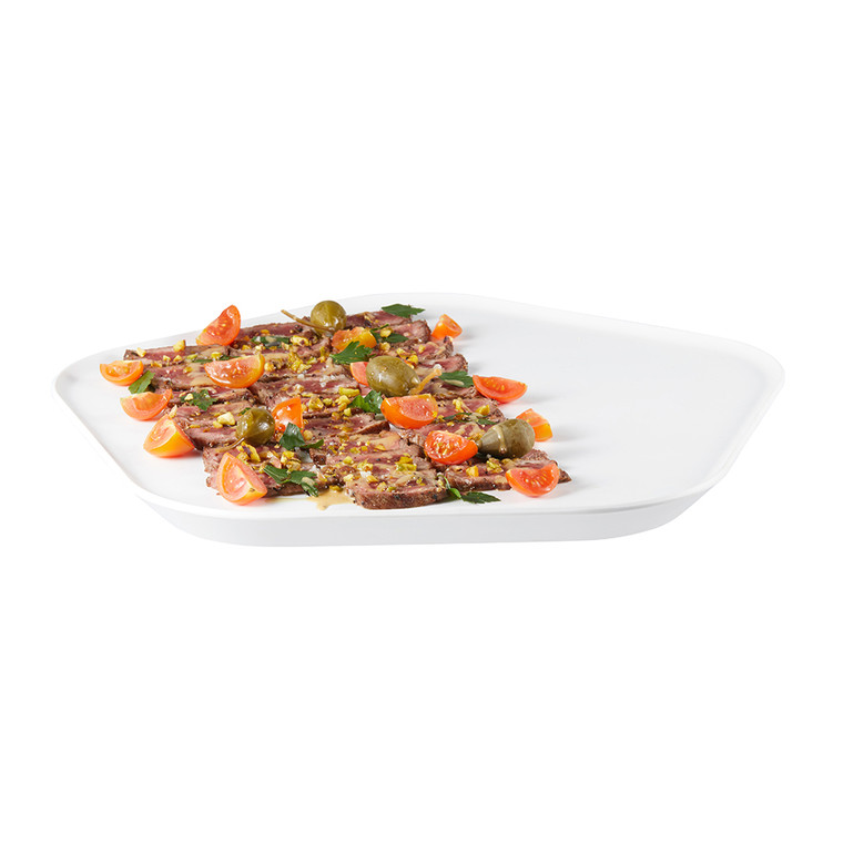 Forme' Melamine Polygon White Tray (Set of 3 pcs.) (Limited Time Offer)