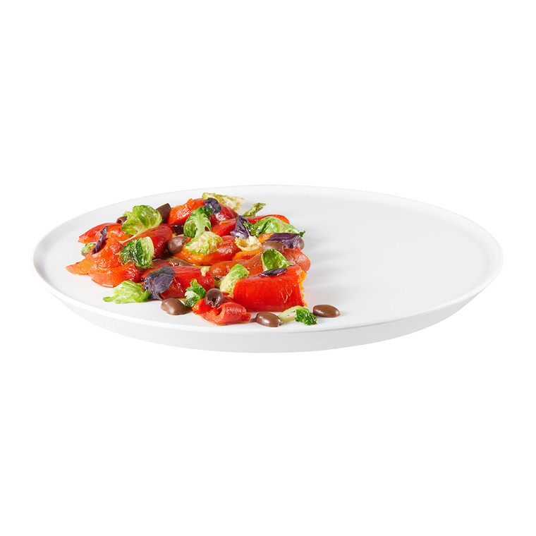 Forme' Melamine Round White Tray (Set of 3 pcs.) (Limited Time Offer)