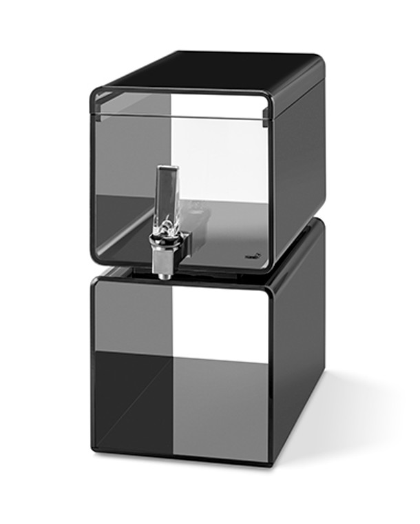Hands-Free Lucid Beverage Dispenser 2 Gallon - With Black Acrylic Base & Touchless handle - Rosseto™