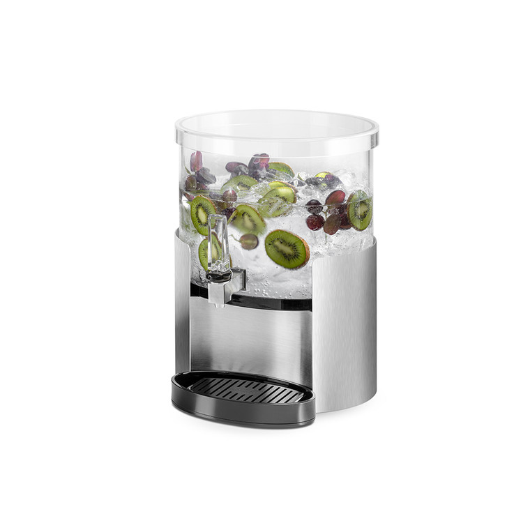 Hands-Free Elliptic Beverage Dispenser 2 Gallon - With Stainless Steel Base & Touchless handle - Rosseto™