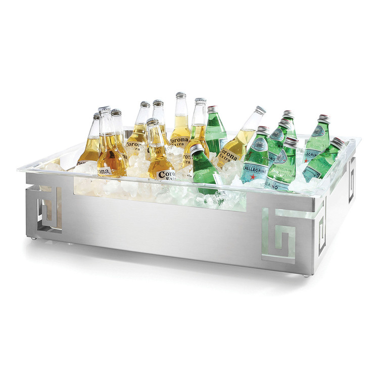 Rosseto® Large Spiral Style Rectangular Stainless Steel Ice Housing With Acrylic Insert - SM213