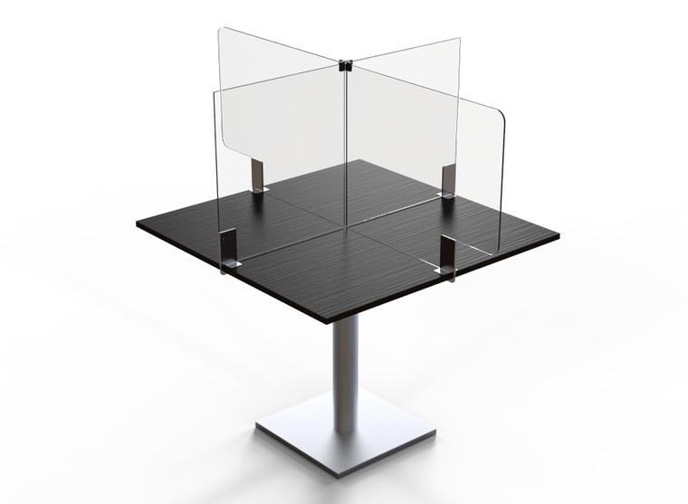 "Avant Guarde™ Acrylic Table Divider Kit for 42""x30"" Table, 1 EA"