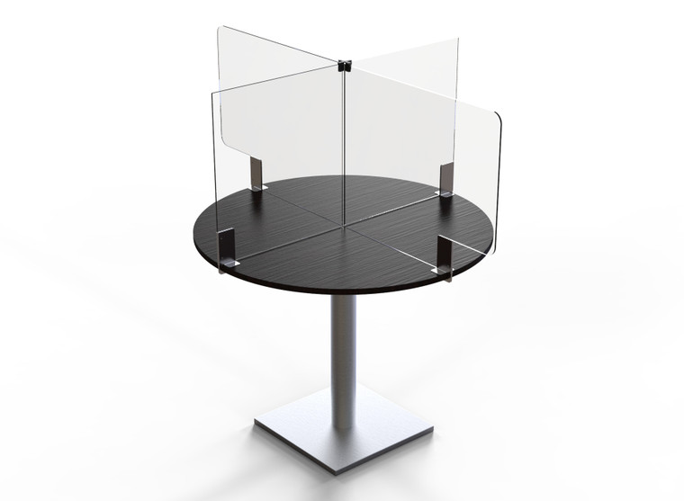 """Avant Guarde™ Acrylic Table Divider Kit for 36""""x36"""" Round or Square Table, 1 EA"""
