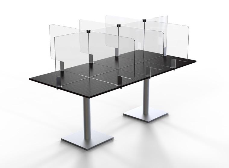 "Avant Guarde™ Acrylic Table Divider Kit for 24""x72"" Table, 1 EA"