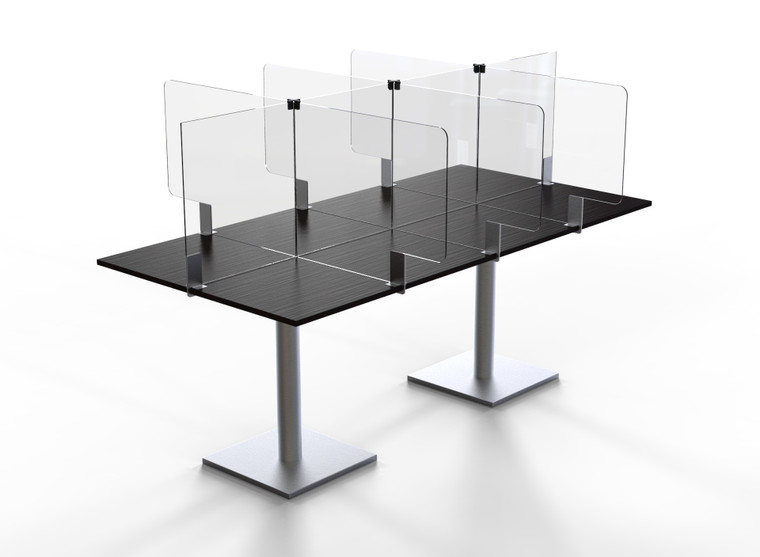 "Avant Guarde™ Acrylic Table Divider Kit for 36""x72"" Table, 1 EA"