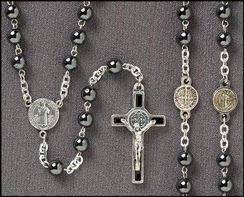 Rosary - Hematite St. Ben