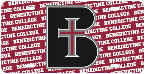 License Plate - Glossy B with Benedictine College
