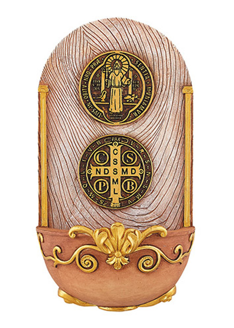 Holy Water Font - St. Benedict Medal
