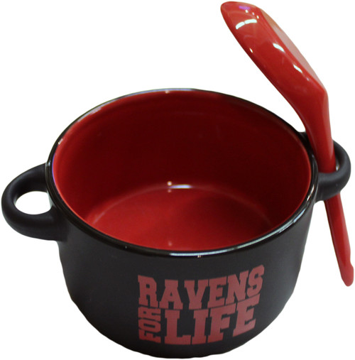 SALE - Soup Bowl - Ravens For Life