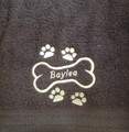 Dog Bath Towel - Plush Embroidered (personalized)