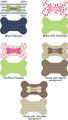 Bone-shaped pillow, imprinted (5 designs- personalized)