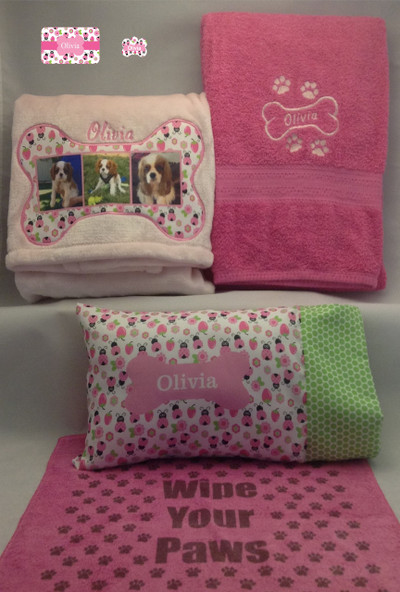 Pink ladybug with rectangular-shaped pillow