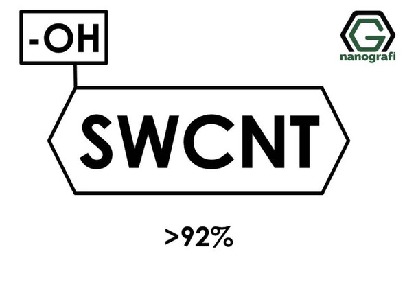 (-OH) Fonksiyonlaştırılmış Tek Duvarlı Karbon Nanotüp, Saflık >92%