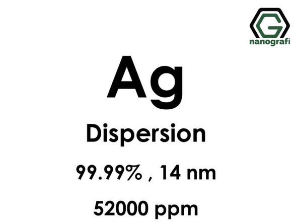 Ag(Gümüş) Nanopartikül, Dispersiyon 14 nm, 52,000ppm
