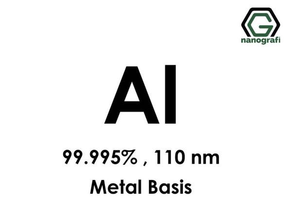 Al (Alüminyum) Nanopartikül, 99.995%, 110nm, Metal Temelli