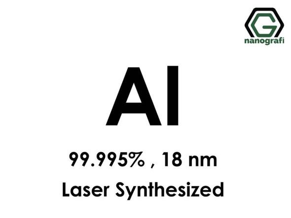 Al(Alüminyum) Nanopartikül, 99.995%, 18 nm, Lazerle Sentezlenmiş