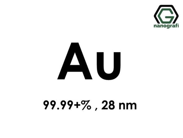 Au(Altın) Nanopartikül, 99.99+%, 28 nm