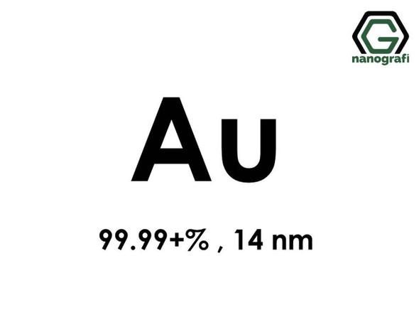 Au(Altın) Nanopartikül 99.99+%, 14 nm