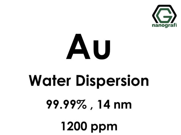 Au(Altın) Nanopartikül Dispersiyon, 14 nm, 1200ppm