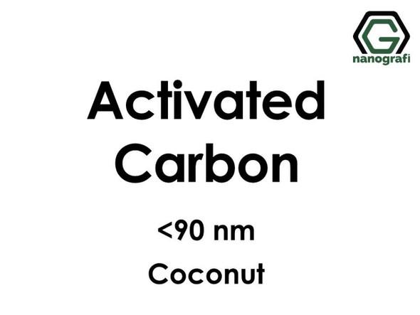 C(Aktifleştirilmiş Karbon) Nanopartikül, <90nm, (Hindistan Cevizi)