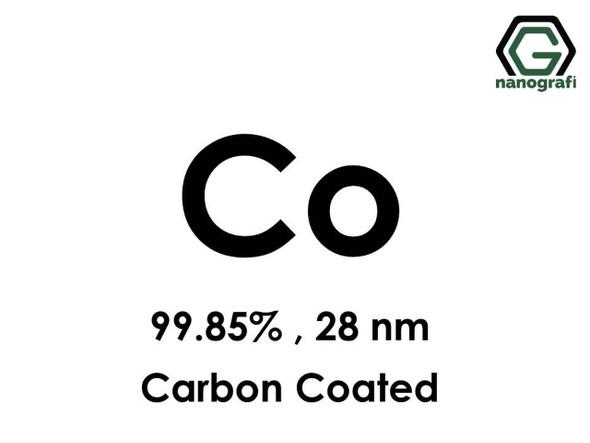 Co(Kobalt) Nanopartikül, 99.85%, 28 nm, Karbonla Kaplanmış