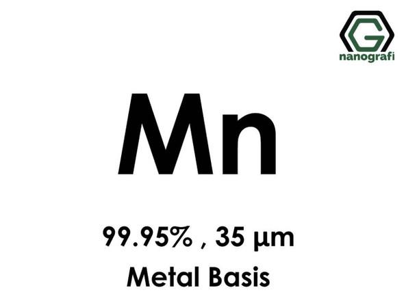 Mn(Mangan) 99.95%, 35 um, Metal Temelli