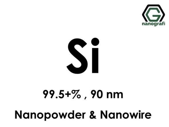 Si(Silikon) Nanopartikül 99.5+%,90nm, Nanopartikül/Nanotoz&Nanotel