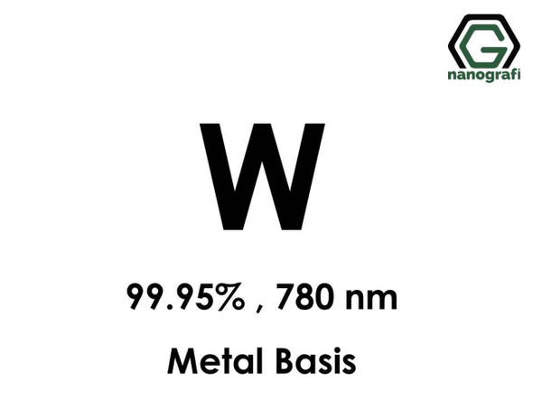 W(Tungsten) Nanopartikül 99.95%, 780 nm, Metal Temelli