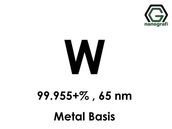 W(Tungsten) Nanopartikül 99.955+%, 65 nm, Metal Temelli