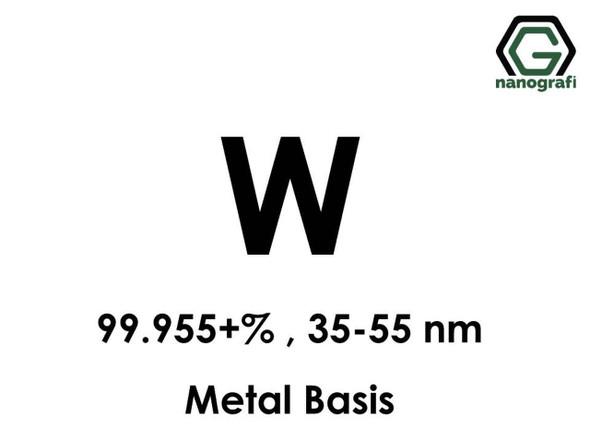 W(Tungsten) Nanopartikül 99.955+%, 35-55 nm, Metal Temelli