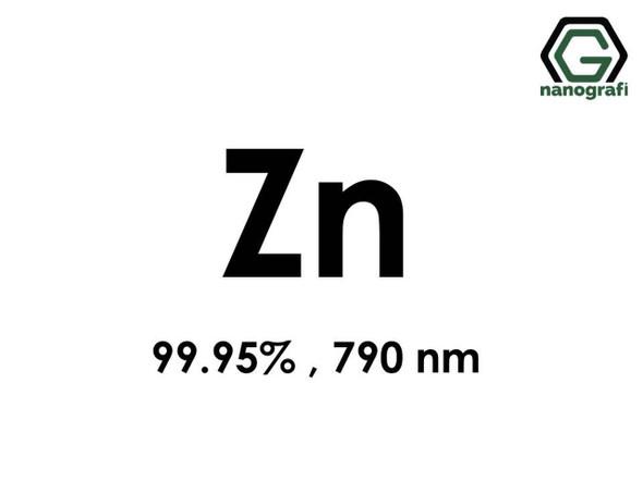 Zn(Çinko) Nanopartikül 99.95%, 790 nm