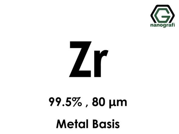 Zr(Zirkonyum ) 99.5%, 80 um, Metal Temelli