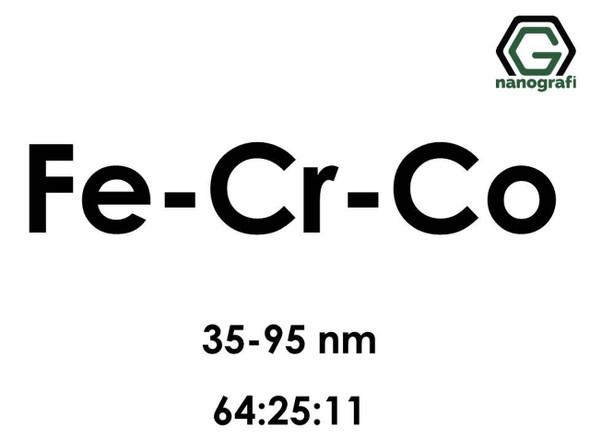 Fe-Cr-Co (Demir) Nanopartikül 35-95nm, Fe:Cr:Co/64:25:11
