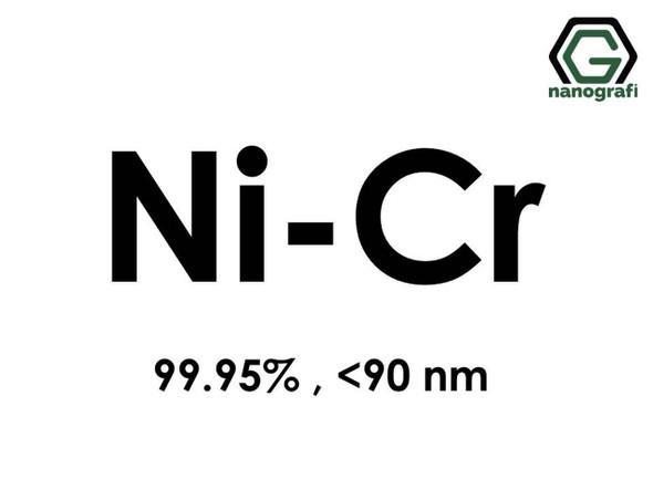 Ni-Cr Nanopartikül/Nanotoz, 99.95% <90nm