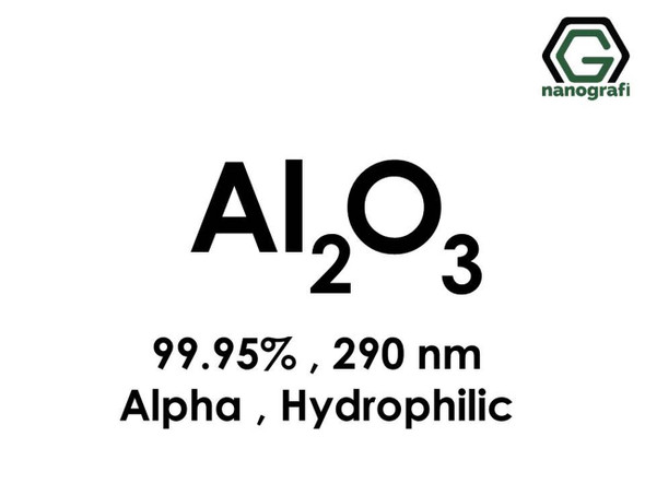 Al2O3(Alüminyum Oksit) Nanopartikül, Alfa, 290nm, Yüksek Saflıkta 99.95%, Hidrofilik