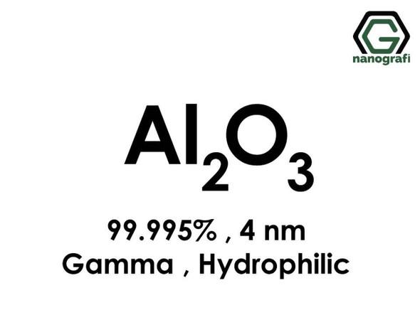 Al2O3(Alüminyum Oksit) Nanopartikül, Gama, 4nm, Saflık 99.995%, Hidrofilik