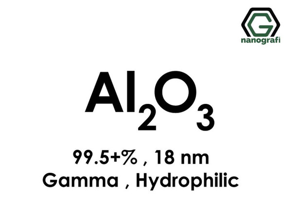 Al2O3(Alüminyum Oksit) Nanopartikül, Gama, 18nm, Saflık 99.5+%, Hidrofilik