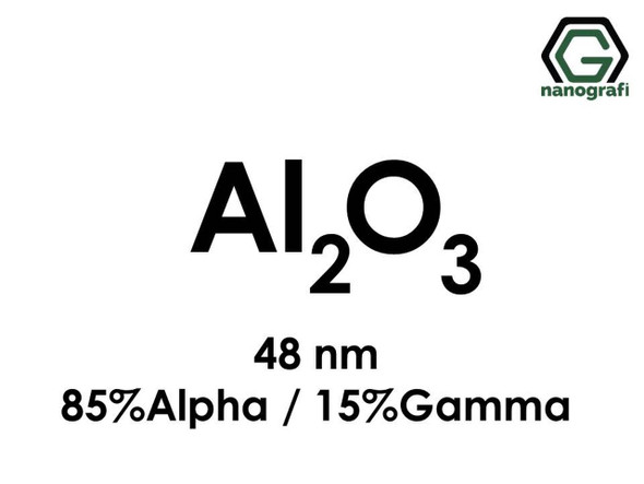 Al2O3(Alüminyum Oksit) Nanopartikül, Alfa/Gama, 48nm, 85% Alfa : 15% Gama