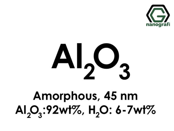 Al2O3(Alüminyum Oksit) Nanopartikül, Amorf, 45nm, Al2O3 92%ağ, H2O 6-7%ağ