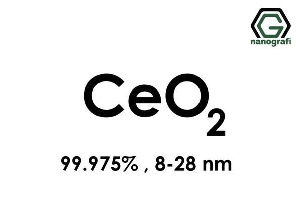 CeO2(Seryum Oksit) Nanopartikül, 8-28nm, Saflık 99.975%
