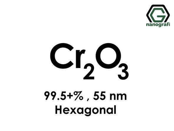 Cr2O3(Krom Oksit) Nanopartikül, 55nm, Saflık 99.5+%, Hekzagonal