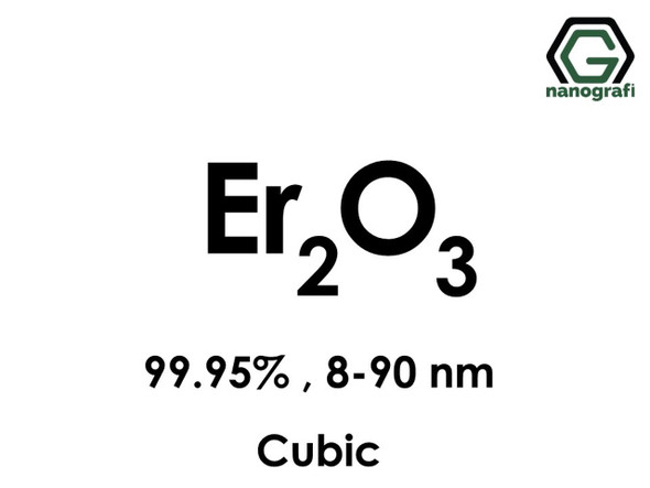 Er2O3(Erbiyum Oksit) Nanopartikül, 8-90nm, Saflık 99.95%, Kübik