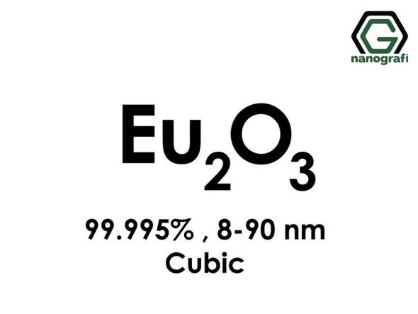 Eu2O3(Öropiyum Oksit) Nanopartikül, 8-90nm, Saflık 99.995%, Kübik