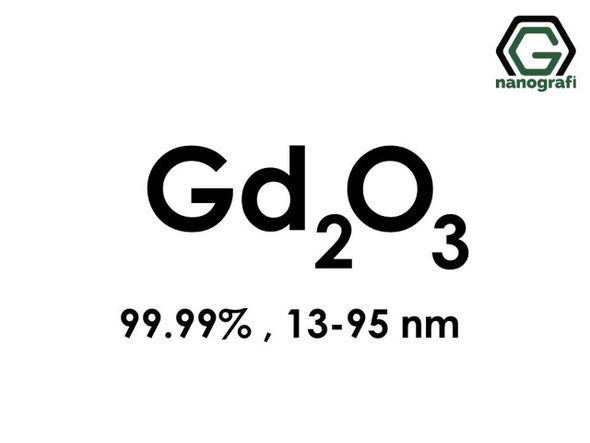 Gd2O3(Gadolinyum Oksit) Nanopartikül, 13-95nm, Saflık 99.99%