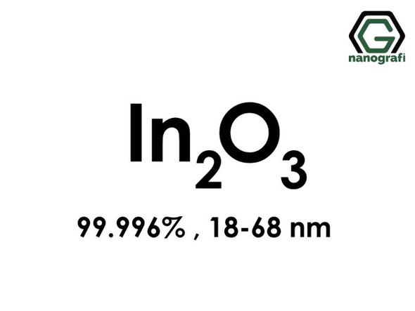 In2O3(İndiyum Oksit) Nanopartikül, 18-68nm, Yüksek Saflıkta 99.996%