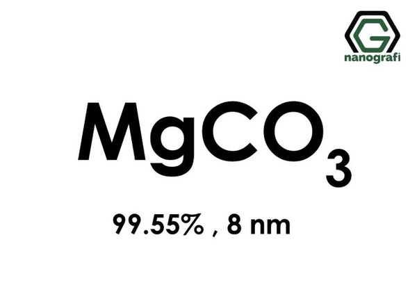 MgCO3(Magnezyum Karbonat) Nanopartikül, 8nm, Saflık 99.55%