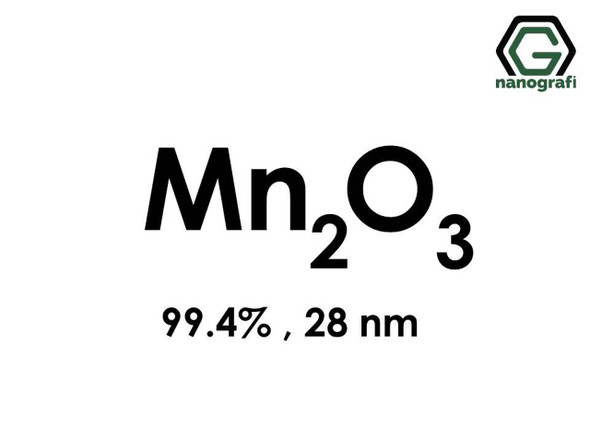 Mn2O3(Mangan Oksit) Nanopartikül, 28nm, Saflık 99.4%