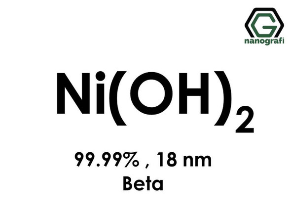 Ni(OH)2(Nikel Hidroksit) Nanopartikül,beta, 18nm, Yüksek Saflıkta 99.99%